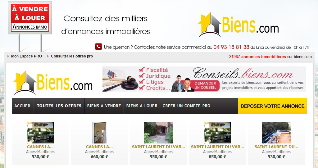 Le bon coin immobilier particuliers for Annonce immobiliere particulier